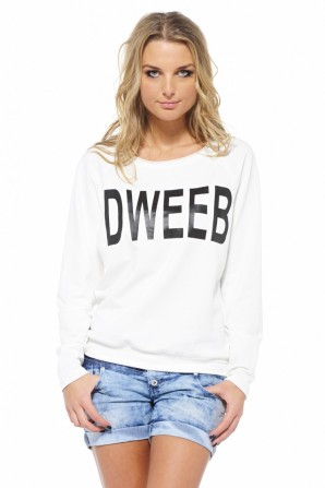 Cream Dweeb Sweat Cream Top