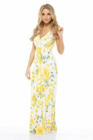 Floral Elasticated Strap Maxi Dress