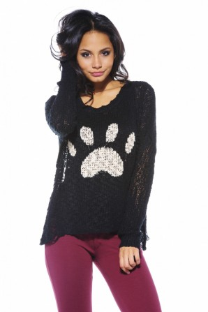 Paw Knit Black Jumper