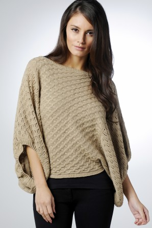 Wide Sleeve Mocha Jumper