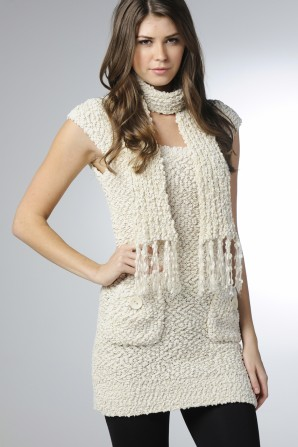 Knitted Capped Sleeve Dress